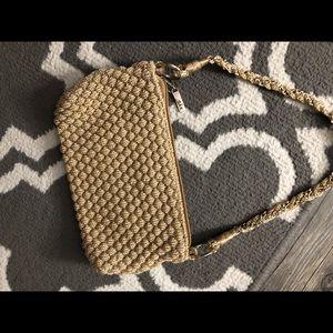 The ask gold metallic small shoulder bag
